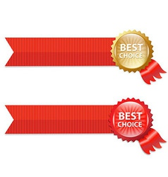 Best choice labels with ribbons vector