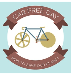 Car free day vector