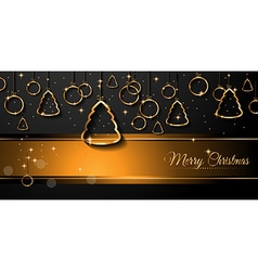 ChristmasGOLDEN HRZ vector image