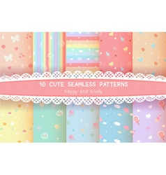 Cute rainbow season colorful pastel seamless vector
