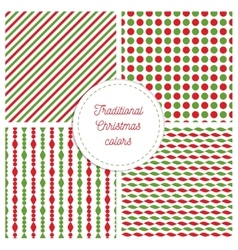 Set of simple retro geometric christmas patterns vector
