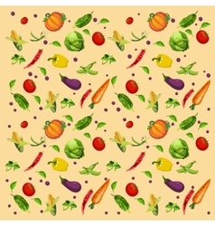 Vegetables background assorted vector