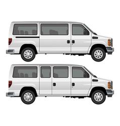 passenger van vector image