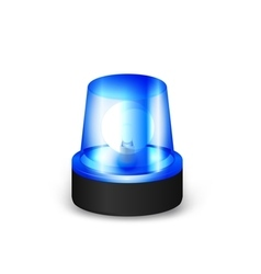 Blue flashing siren vector