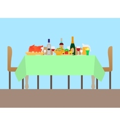 A festive table vector