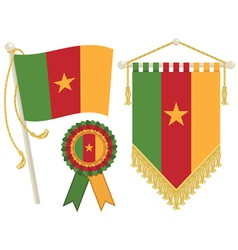 Cameroon flags vector