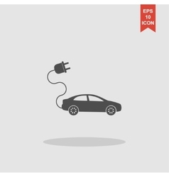 Electric car icon flat design style vector
