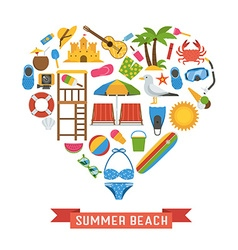 Love summer concept vector