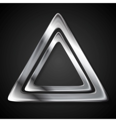 Abstract metallic triangle logo vector