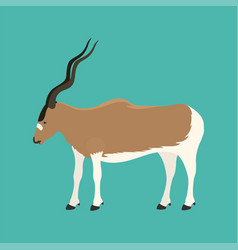 Antelope addax wildlife endangered species nature vector