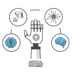 Artificial intelligence technology vector