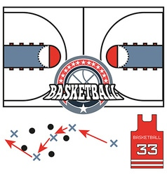 Basketball game strategy vector