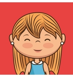 Beautiful lady character icon vector