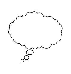 bubble speak cloud dialog message vector image vector image