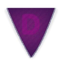 Bunting flag letter d vector