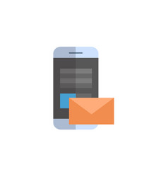 cell smart phone with envelope icon email letter vector image vector image