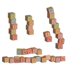 Construction in toy blocks vector image vector image