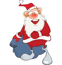 Cute Santa Claus and Sack Full vector image vector image