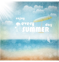 Enjoy every summer day vector image vector image