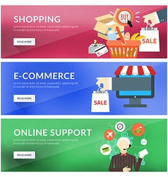 Flat design concept for shopping e-commerce online vector