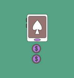 Flat icon design collection casino online vector