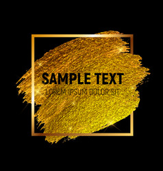 gold paint glittering textured art vector image vector image