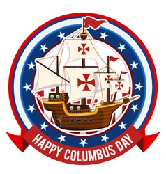 Happy Columbus Day vector image vector image