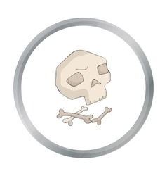 Human ancient bones icon in cartoon style isolated vector image