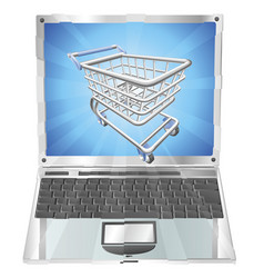 internet shopping laptop concept vector image vector image