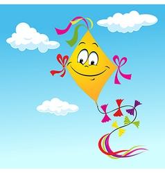 kite cartoon vector image