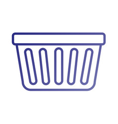 Laundry basket plastic object equipment vector