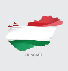 map of hungary vector image vector image