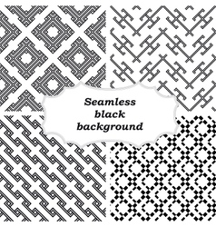 Mono line backgrounds with simple patterns vector image