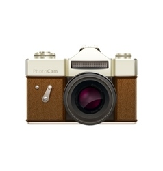 Old fashioned vintage camera vector