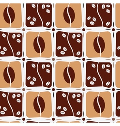Seamless background with coffe beans vector