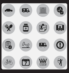 Set of 16 editable mixed icons includes symbols vector
