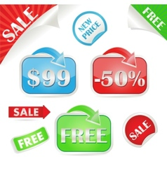 set of sale and promo stickers vector image vector image