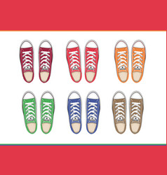 shoes top view vector image vector image