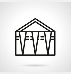 Street trade tent simple line icon vector