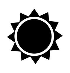 sun icon - iconic design vector image
