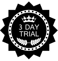 three day trial icon vector image vector image