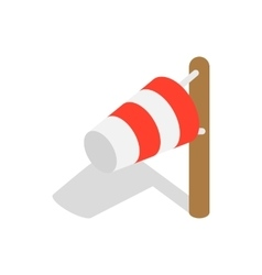 Windsock icon in isometric 3d style vector