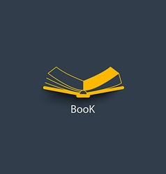 Open book in paper style vector