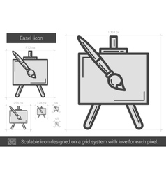 Easel line icon vector