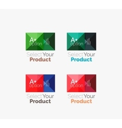 Set of abstract square interface menu navigation vector