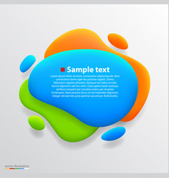 Color blot banner vector