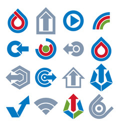 Blue app buttons collection of arrows direction vector