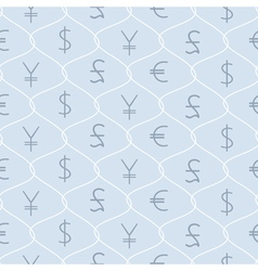 Background with major types of currencies vector