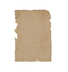 Torn sheet old paper vector