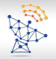 Sattle Network vector image